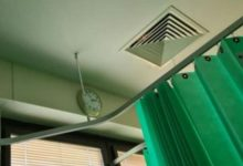 It moved and blinked there was something in the hospital ventilation that scared the patient