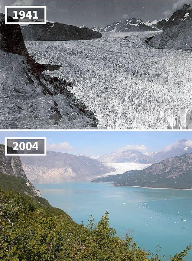 Melting Muir Glacier Alaska