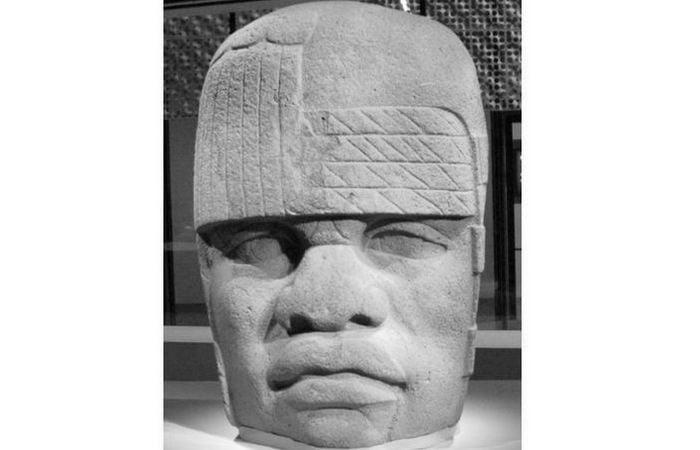 Olmec stone heads
