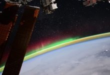 Russian cosmonaut showed the glow of the Earth