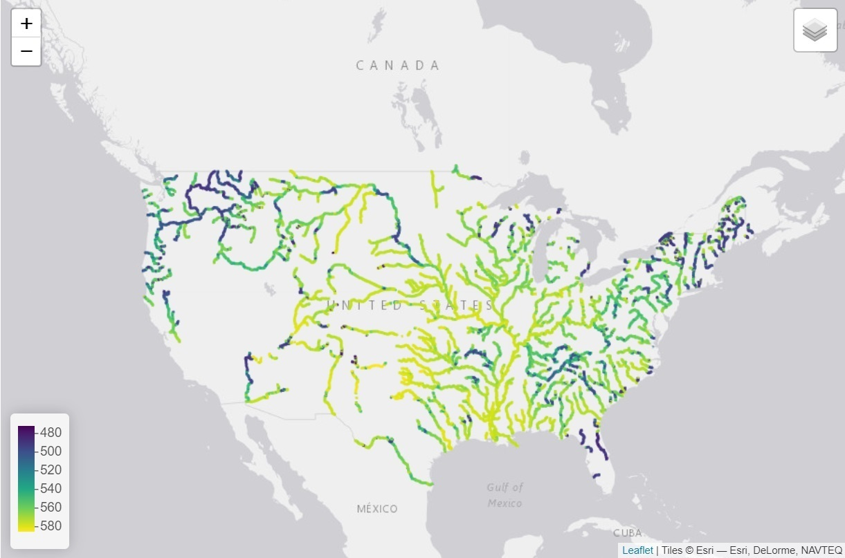 Scientists have studied rivers in the USA and were surprised they change color