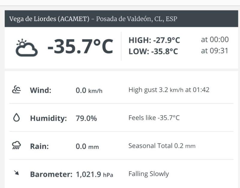 Temperature like in Siberia Spain set cold record 2