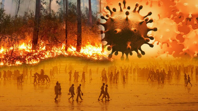 The COVID 19 pandemic and wildfires pose a serious threat to our civilization