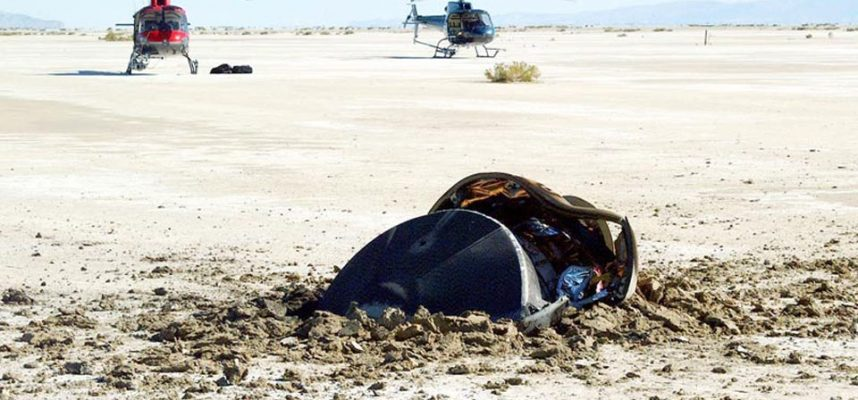 There is an amazing story behind this NASA photo of a crashed flying saucer