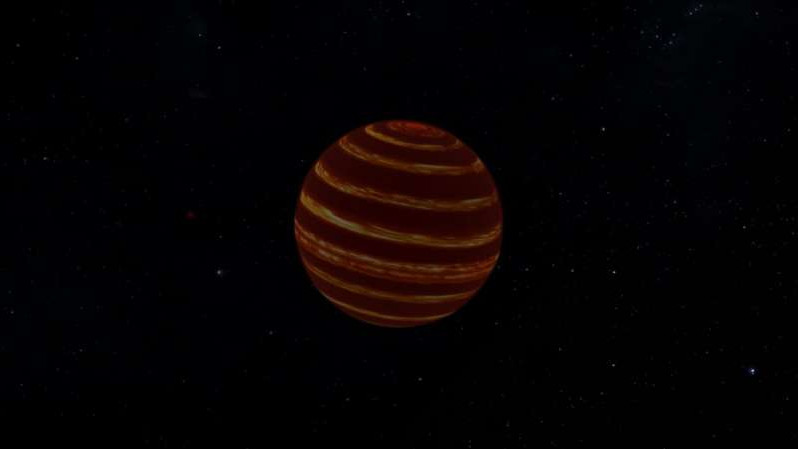 Winds and jet streams detected on nearby brown dwarf