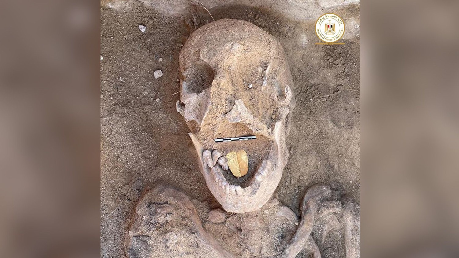 2 000 year old mummy with a golden tongue found in Egypt