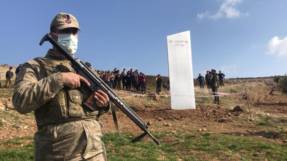 Another mysterious monolith appeared in Turkey the object is guarded by the military with machine guns