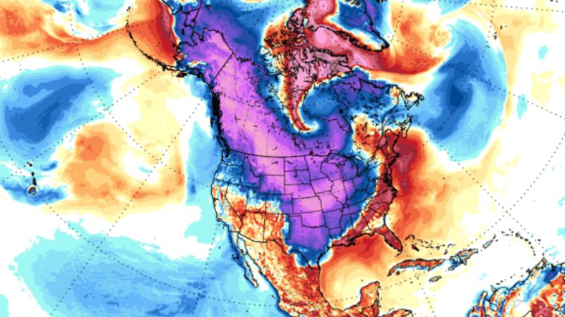 North America Europe and Asia will be hit by incredibly severe frosts