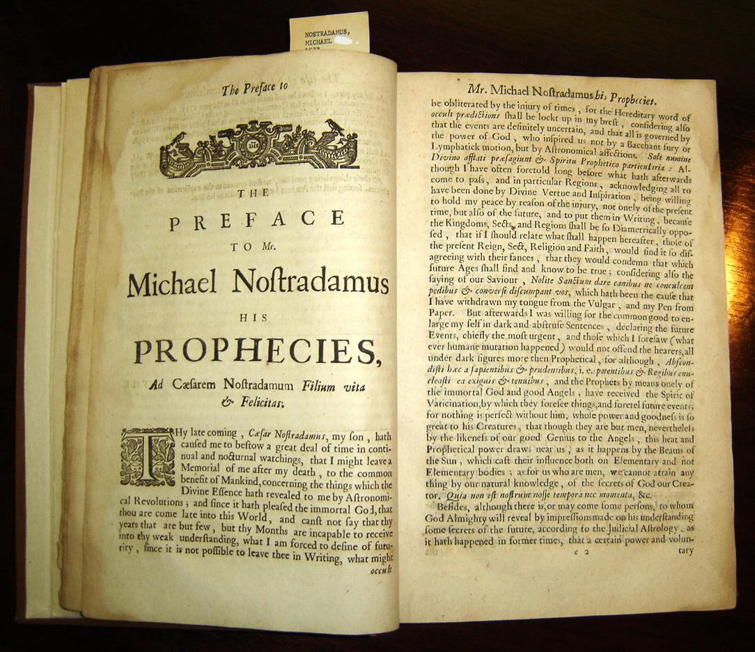 Nostradamus prophecies 1