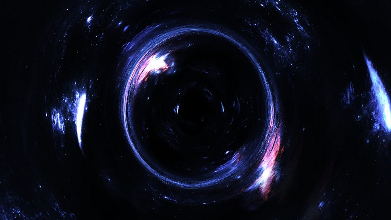 Unknown space object obscured a massive black hole