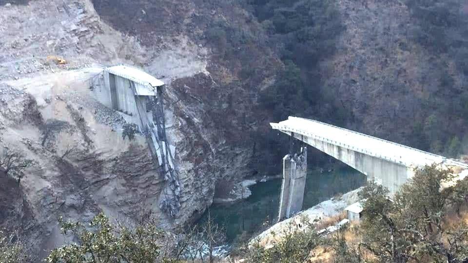 Wanchu bridge collapses in Bhutan Fotor