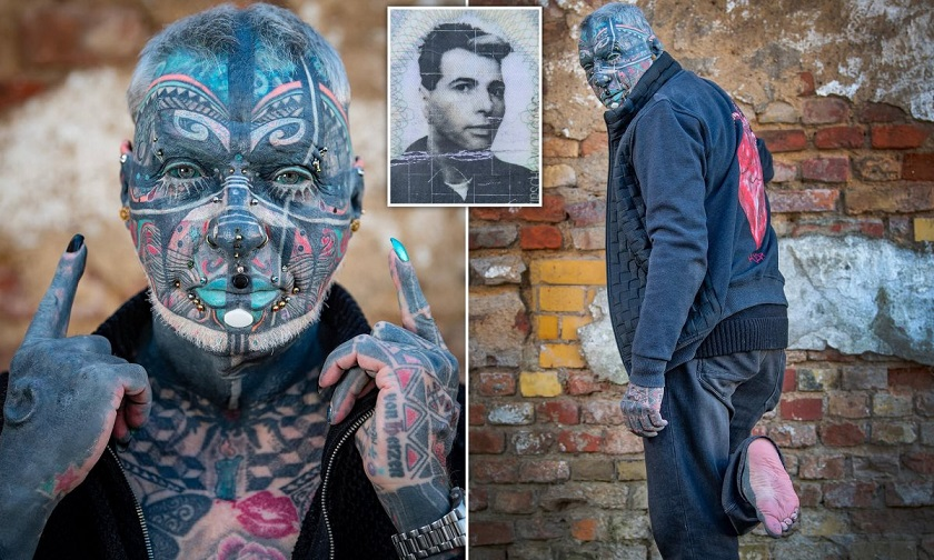 72 year old retired became the most tattooed person in Germany 2