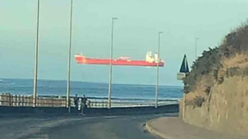 A resident of Scotland was shocked when he saw a ship sailing through the sky