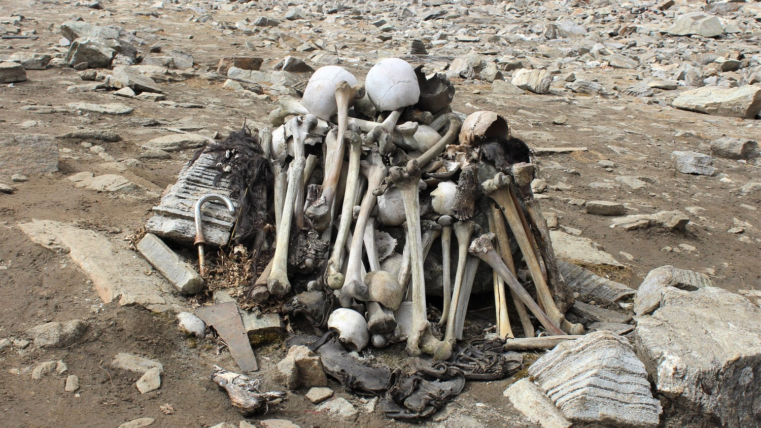Analysis of human skeletons found near lake Himalayan puzzles scientists