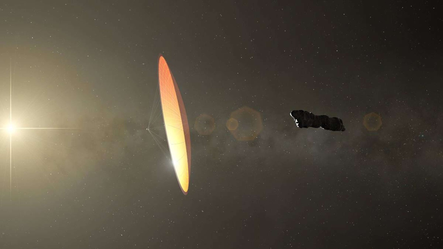 The solar system can be visited by up to seven alien ships a year