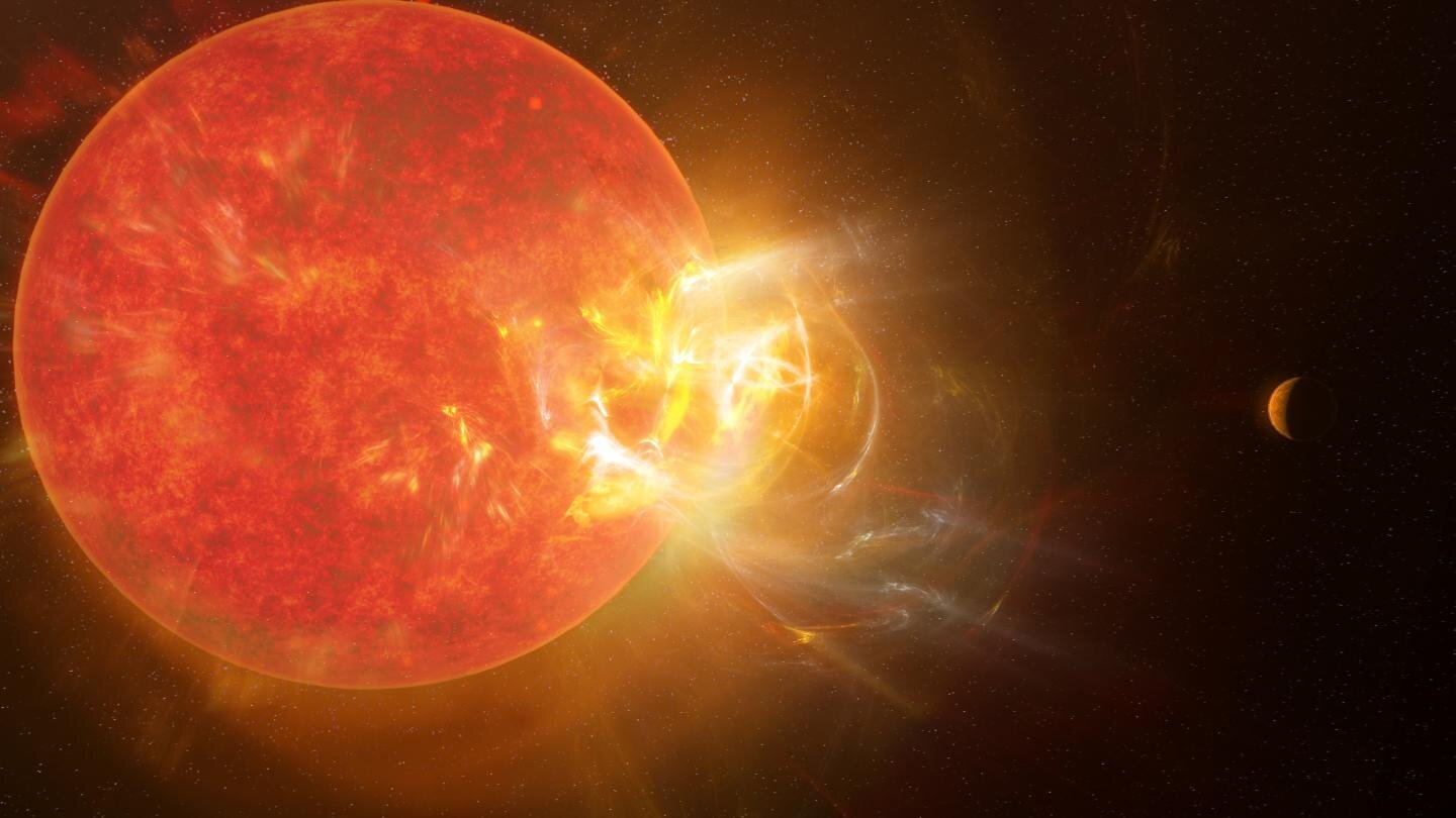 A powerful outbreak occurred on the star closest to the Sun