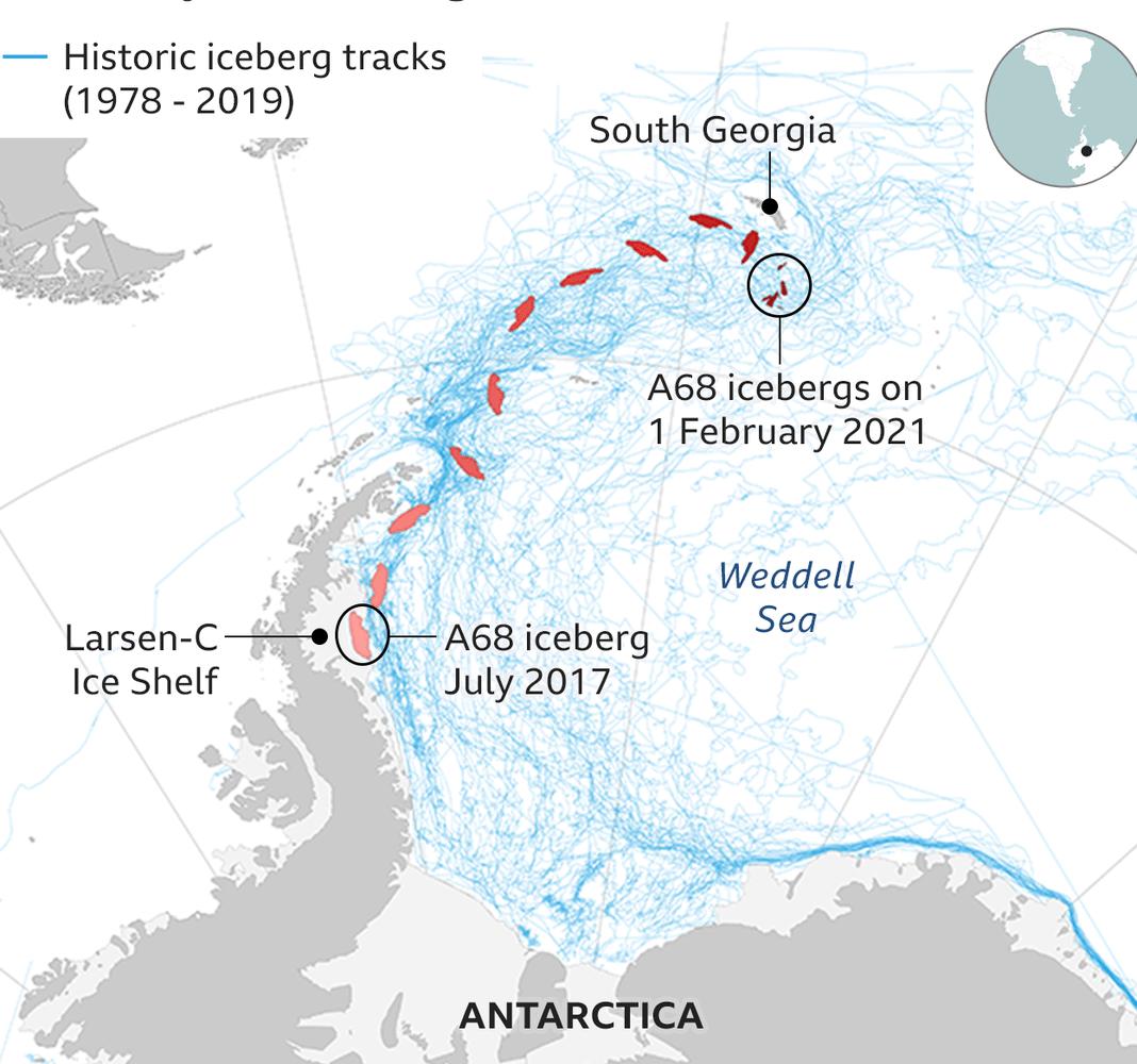 Famous iceberg A68