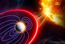Impact of a solar flare on the Earths magnetosphere