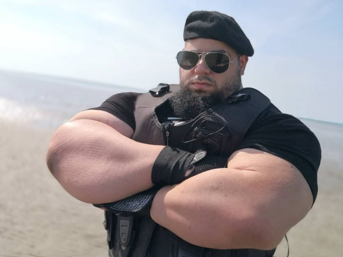 Is the Iranian Hulk a tough guy or a fairground figure 8