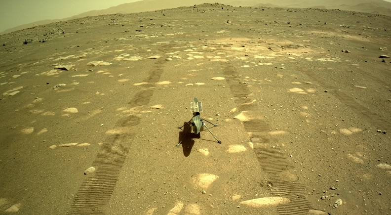 Mars helicopter sends first photo from its camera 1