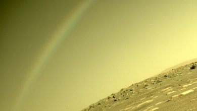 Mars rover Perseverance captured a rainbow on Mars 1