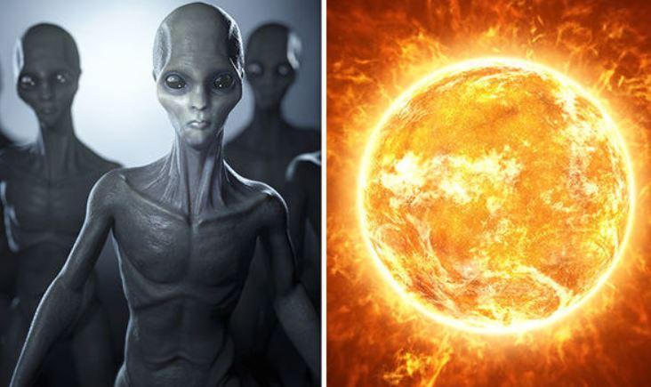 Sun and Earth are portals for aliens