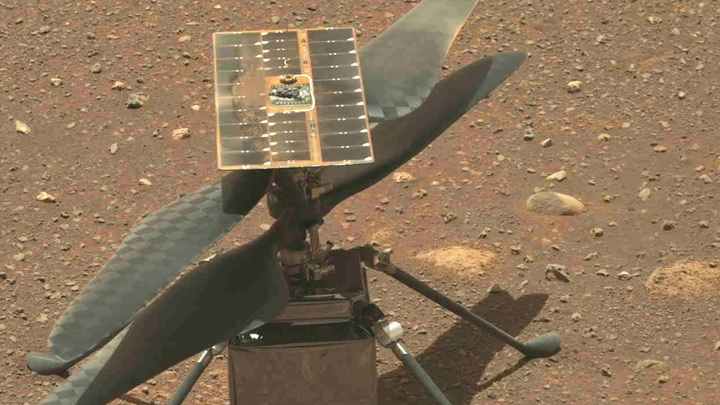 The first helicopter drone will fly over Mars on April 19