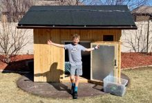 10 year old from Utah wintered in a small wooden house 1