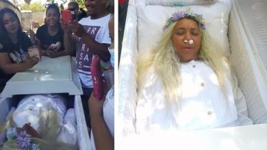 A resident of the Dominican Republic staged a rehearsal of her own funeral