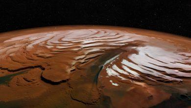 A strange type of glacier discovered on Mars