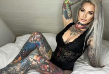 A woman covered her body with tattoos of her sons favorite comic book characters