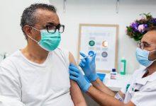 Head of WHO vaccinated against coronavirus