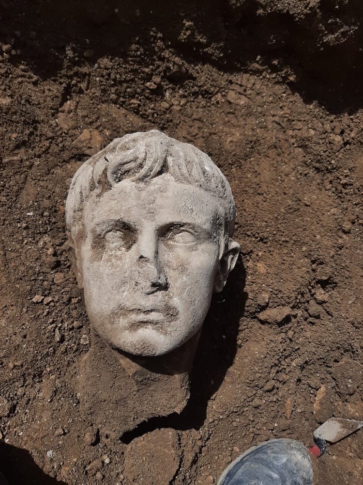 Marble head of the first emperor of Rome found in Italy