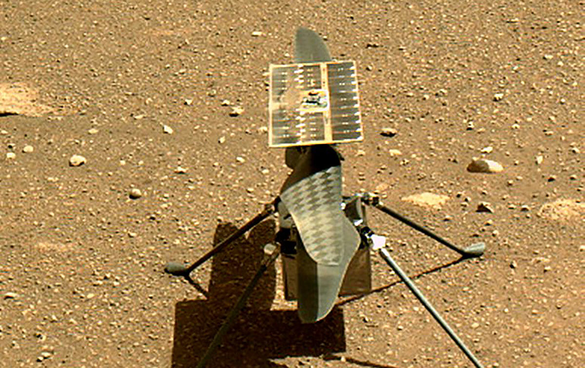 Mars helicopter Ingenuity flies to a new location for the first time