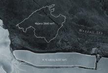 New record iceberg breaks off glacier in Antarctica