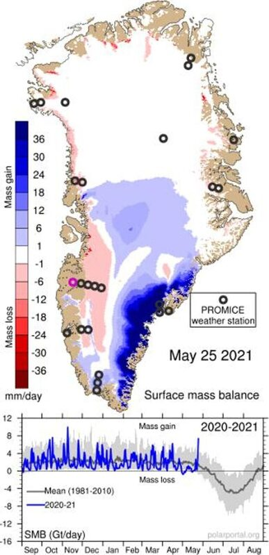 Record amount of snow and ice accumulated in Greenland 2