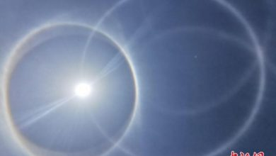 Stunning solar halos shine in different parts of the world 1