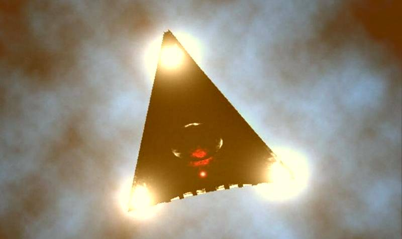 UFO or mysterious plane TR3B Astra flew over Texas