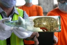 An old bottle with a message was found in Detroit during the renovation of the station