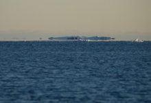 Ukrainian polar explorers capture flying icebergs in the photo