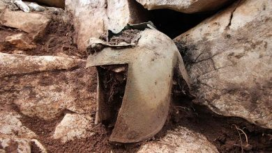 Ancient bronze helmet discovered in Croatia