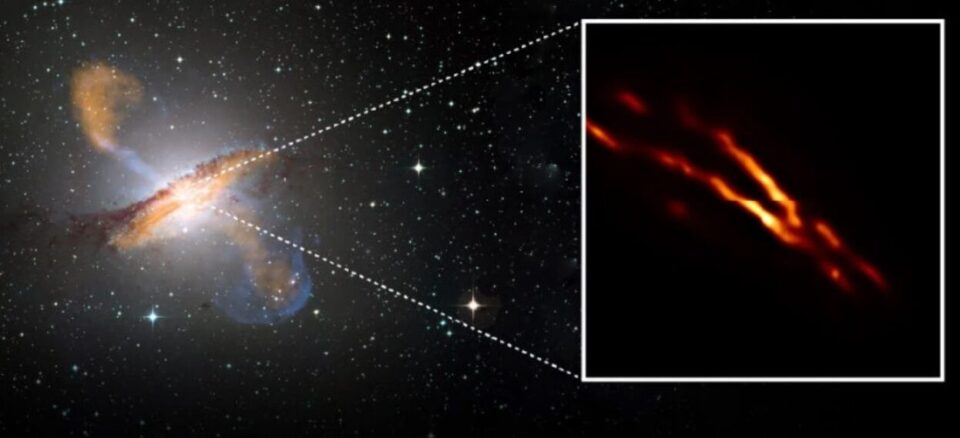 Astronomers filmed a black hole spitting out a jet of plasma