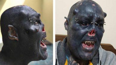 Brazilian tattoo artist turned himself into an Orc