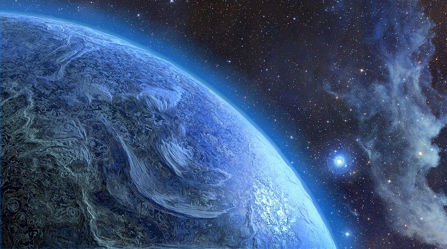 An inhabited super earth may be located in a nearby planetary system