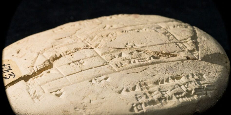 Equations from Applied Geometry were found on a 3700 year old tablet