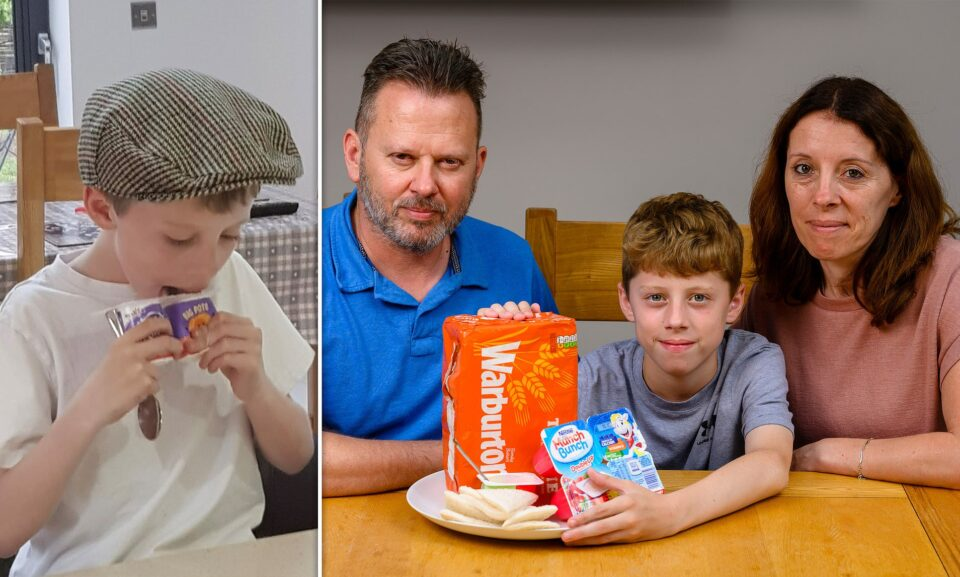 The boy eats only yoghurts and white bread due to a rare phobia