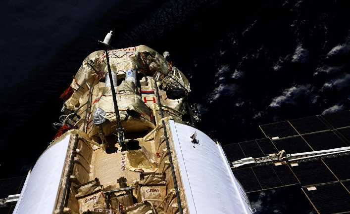 strange events happened after the Russian module docked with the ISS