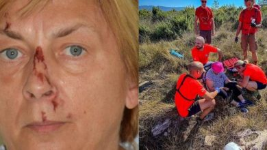 A bloody woman was found on a Croatian sparsely populated island