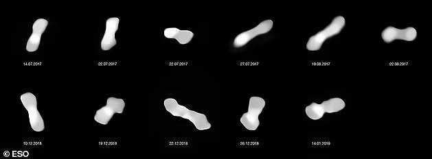 Astronomers capture an unusual bone shaped asteroid 2