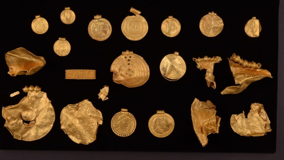In Denmark an amateur archaeologist finds dozens of gold items